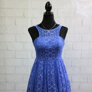 Dear Moon Royal Blue Dress Size 1 Lace Dress